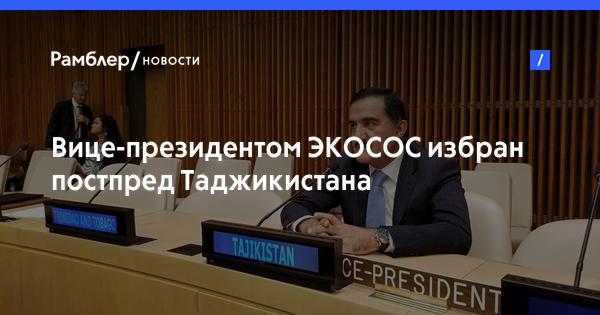 Вице-президентом ЭКОСОС избран постпред Таджикистана