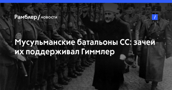 Мусульманские батальоны СС: зачеи их поддерживал Гиммлер