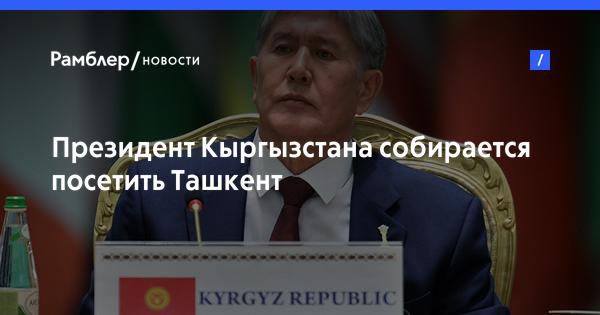 Президент Кыргызстана собирается посетить Ташкент
